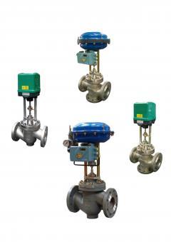 Pneumatische Regelventile, elektrische Regelventile, hydraulische Regelventile